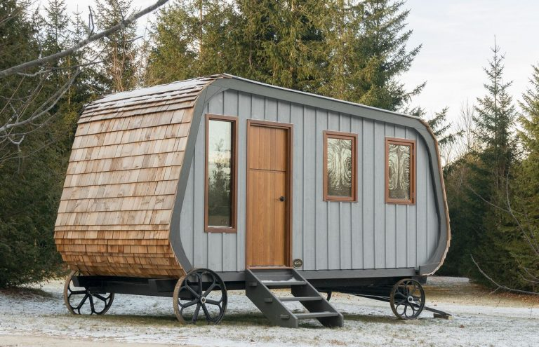 Unique tiny house on wheels