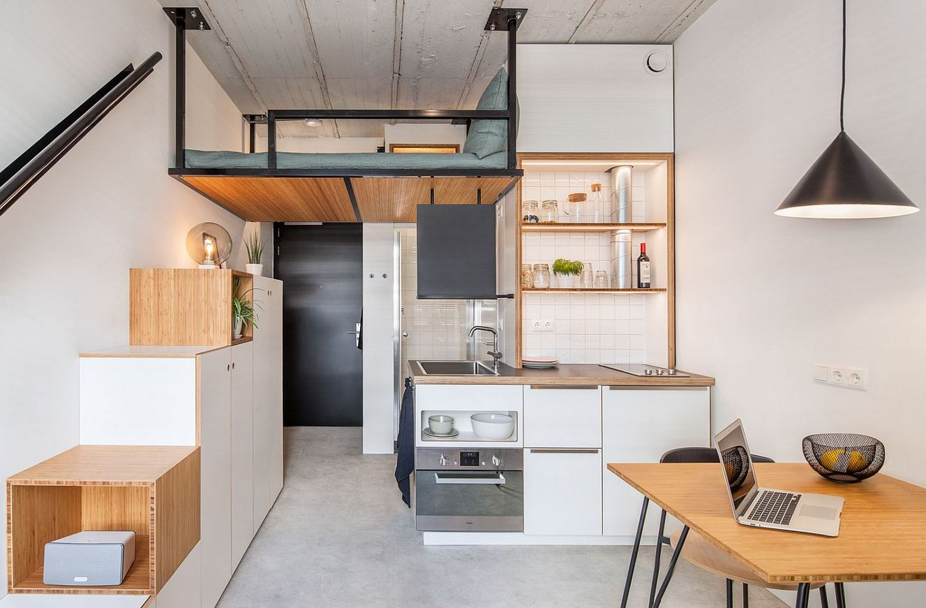 Modern small apartment designs 8