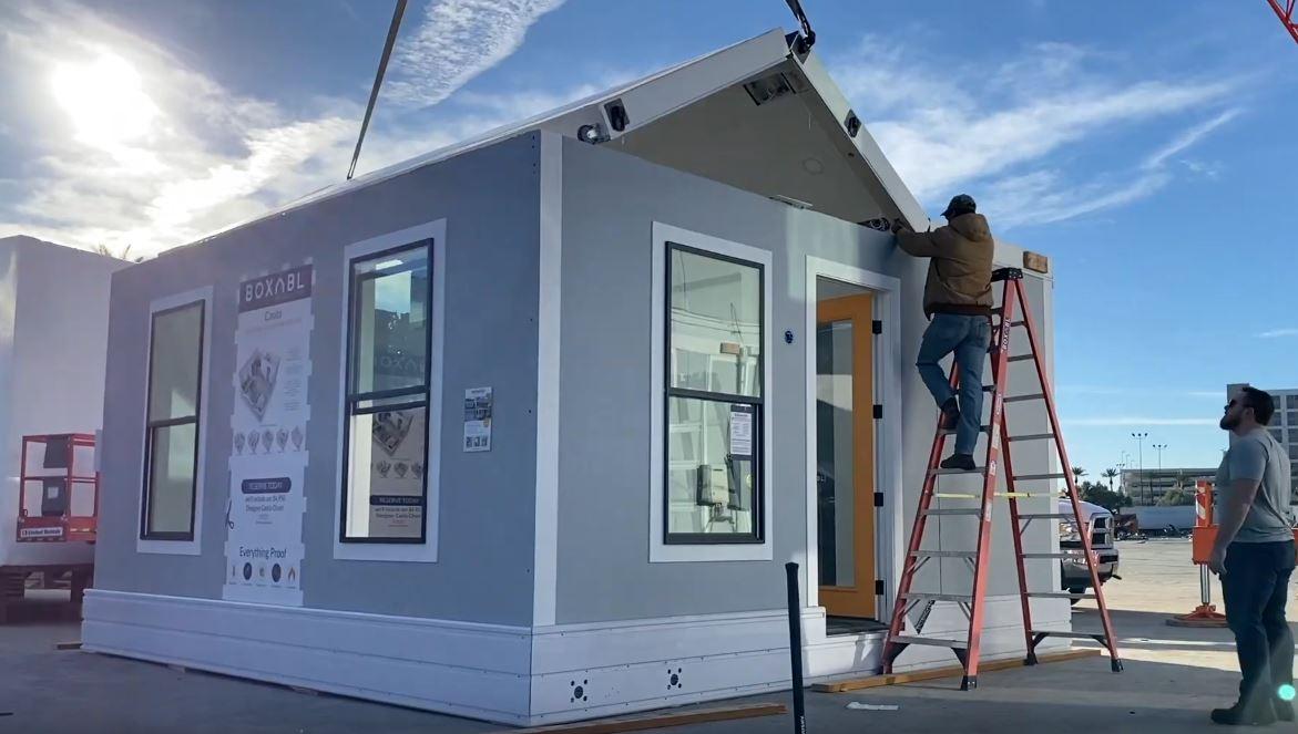 unfolding tiny house
