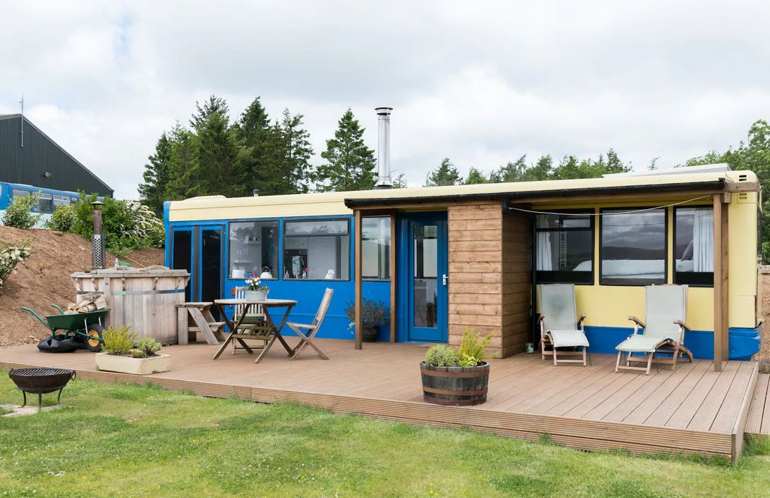 Converted Bus Scotland Airbnb